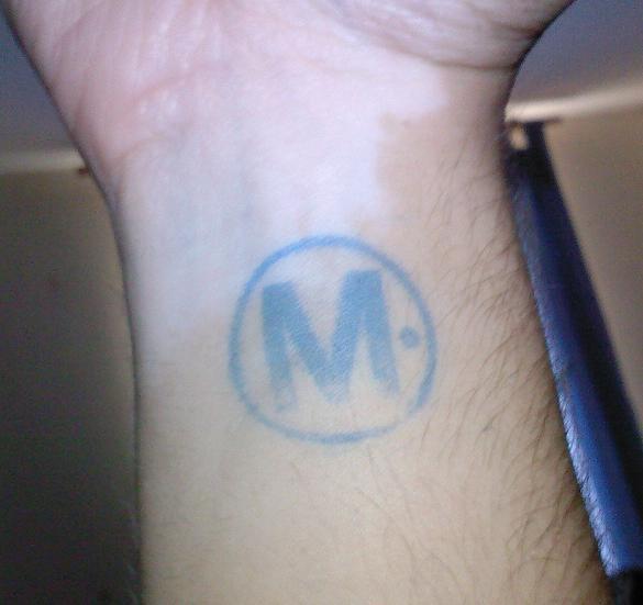 M stamp